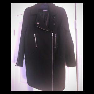 ASOS Moto Wool Coat with Zippers